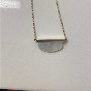 Rare Kendra Scott Long Gold Opal Necklace